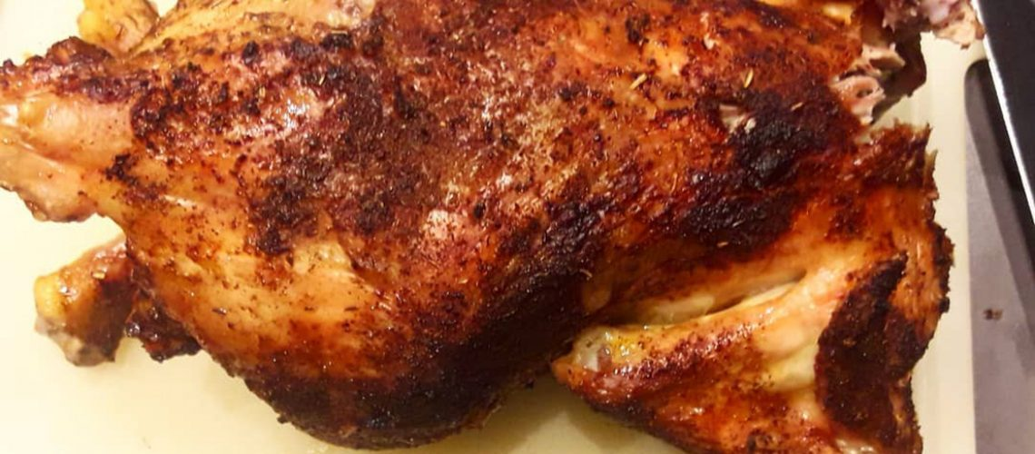 a grilled chicken for lunch